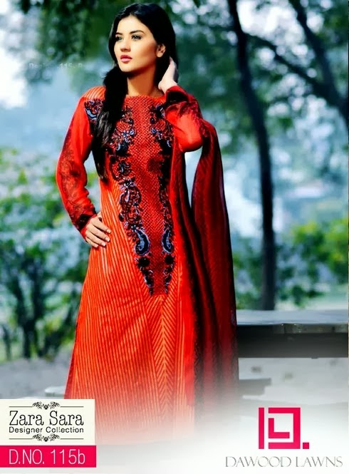 Dawood Designer Lawn Collection 2014
