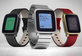 Smartwatch Android daya baterai Terbaik: Pebble Time Steel