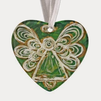 Green Angel Color Series Ornament