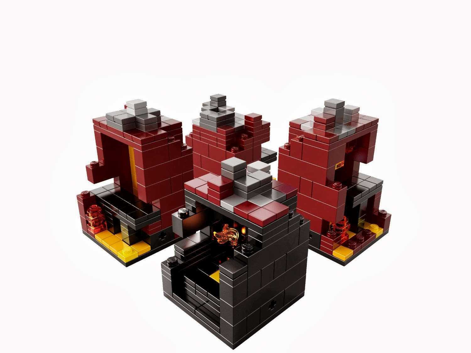 My lego style lego minecraft the nether 21106 for Lego world craft