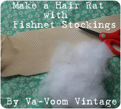 how to make an easy vintage style hair rat