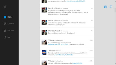 Windows 8 Twitter Uygulaması
