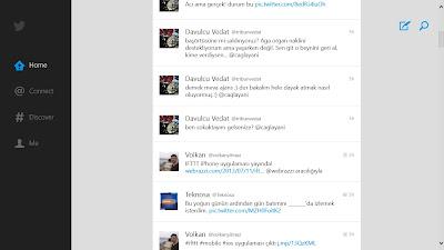 Windows 8 Twitter Uygulaması