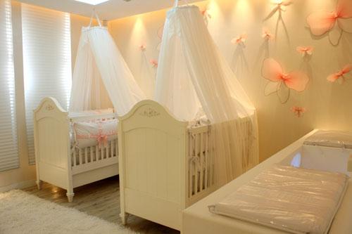cuarto para gemelas o mellizas bebes con cromoterapia
