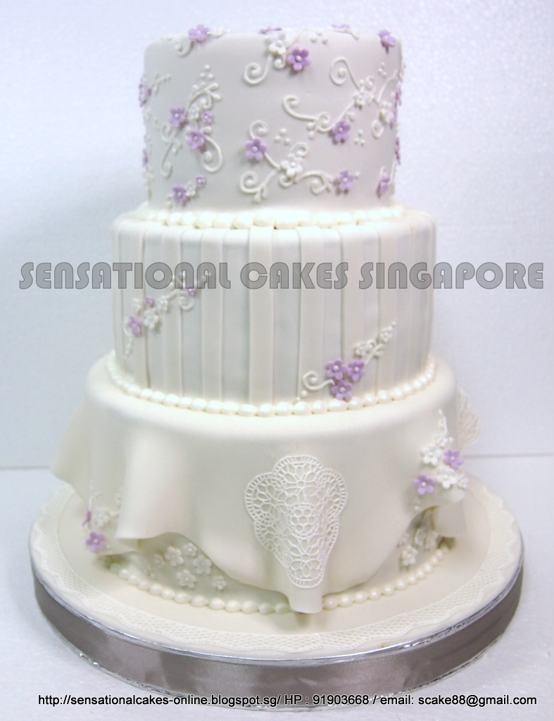 The Sensational Cakes: PERFECT LACE WHITE WEDDING CAKE SINGAPORE / 3 ...