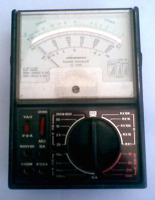 Radio Shack Multimeter : Ht spark micronta tandy multimeter model b