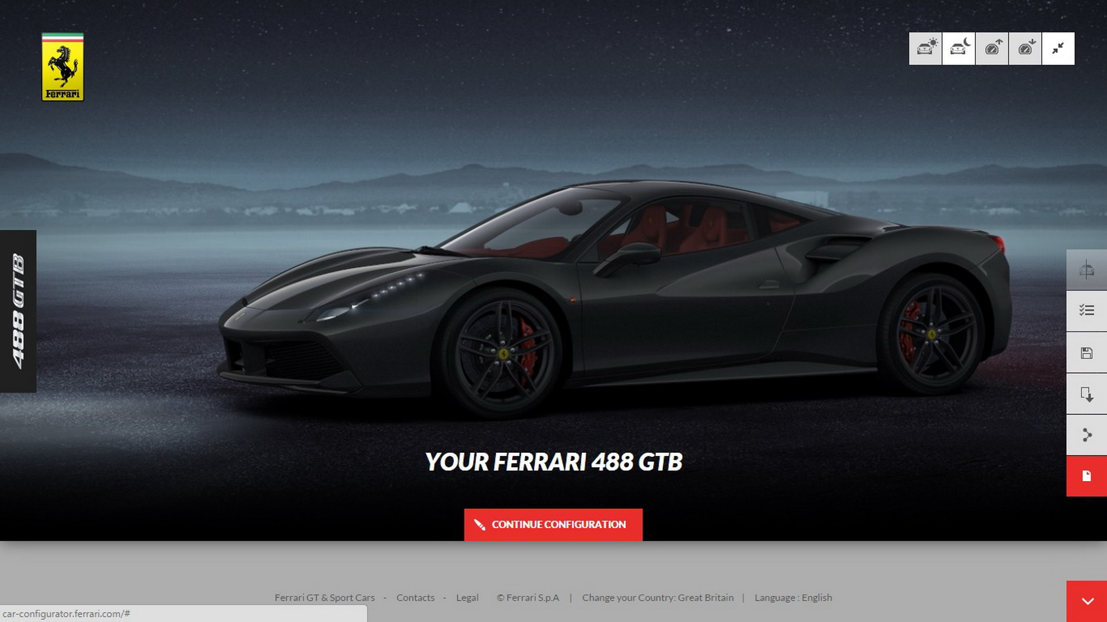 you can now build your own 488gtb on ferrari s configurator carscoops. Black Bedroom Furniture Sets. Home Design Ideas