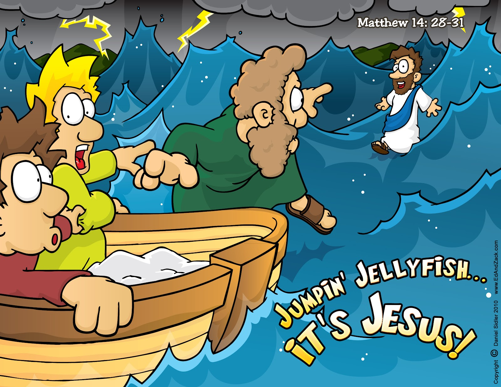 Christian Carto... Zacchaeus Bible Story
