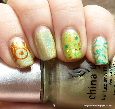 China Glaze L8R G8R with stamping