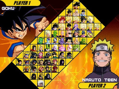 Dragon Ball VS Naruto MUGEN game characters