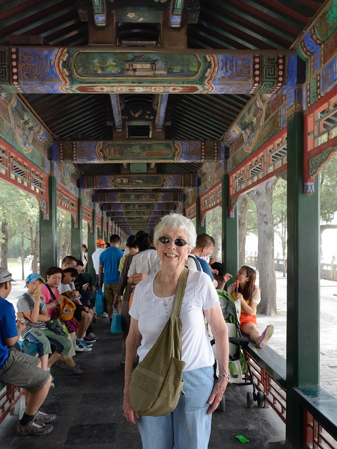 Nancy Savage in the Long Corridor at the Summer Palace in Beijing