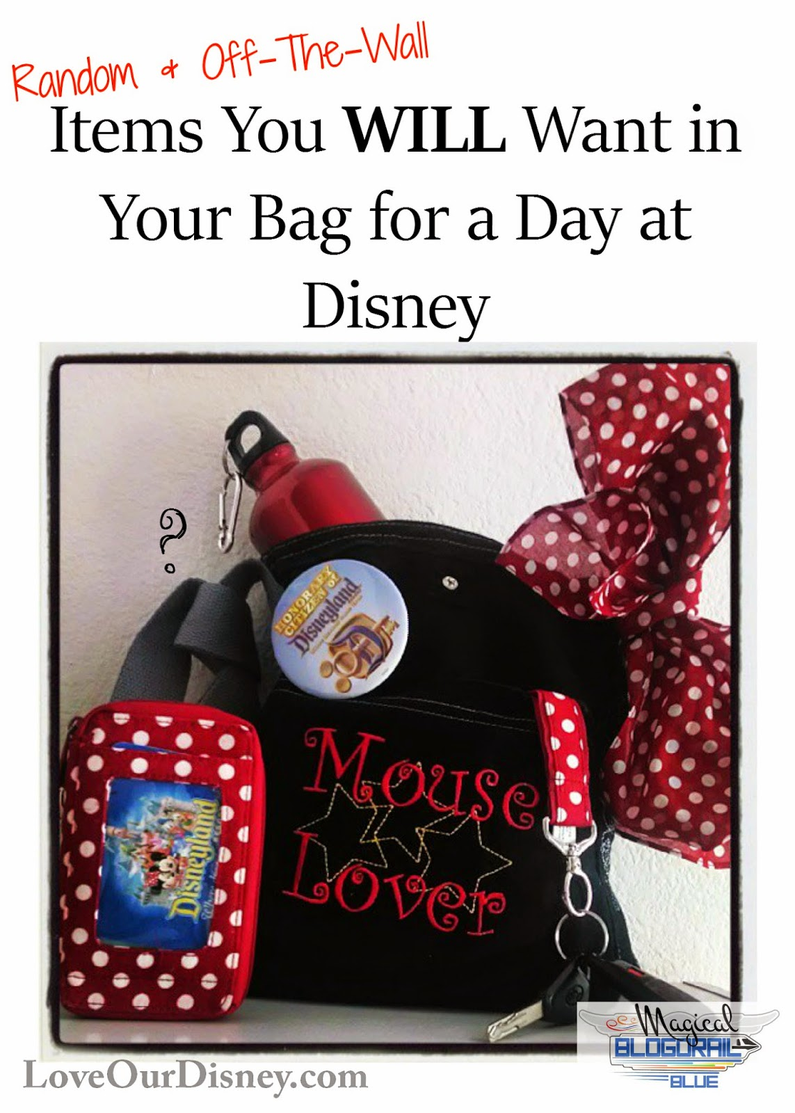 What should you pack in your purse/bag for Disney? These random items may save your magical vacation. LoveOurDisney.com