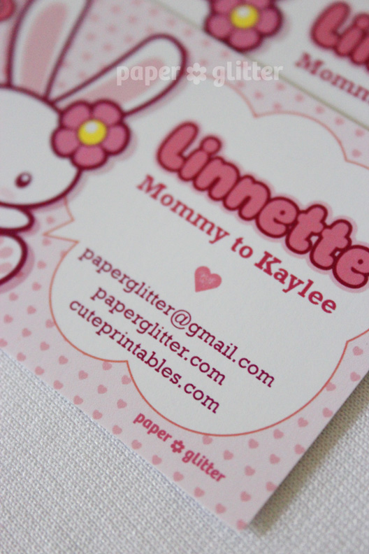 New to the shop calling cardkawaii bunny more details of this printable kawaii calling card here colourmoves