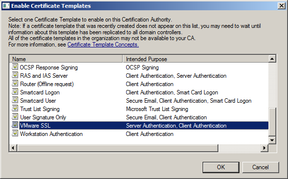 Katalykt preparing a microsoft ca ssl certificate template for here we simply select our vmware ssl template and we click on ok yelopaper Gallery