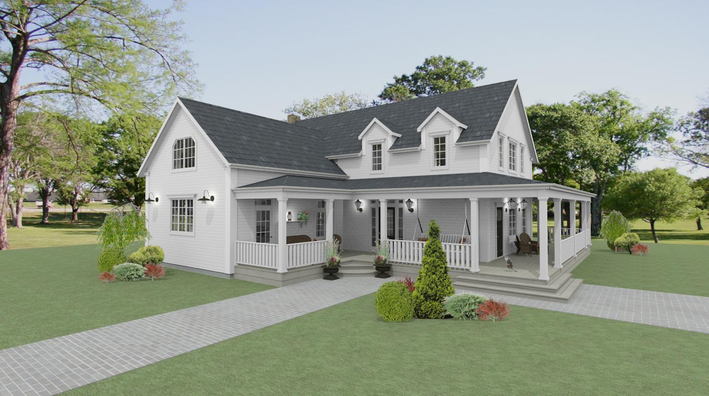 Den vita drömgården: nytt new englandhus