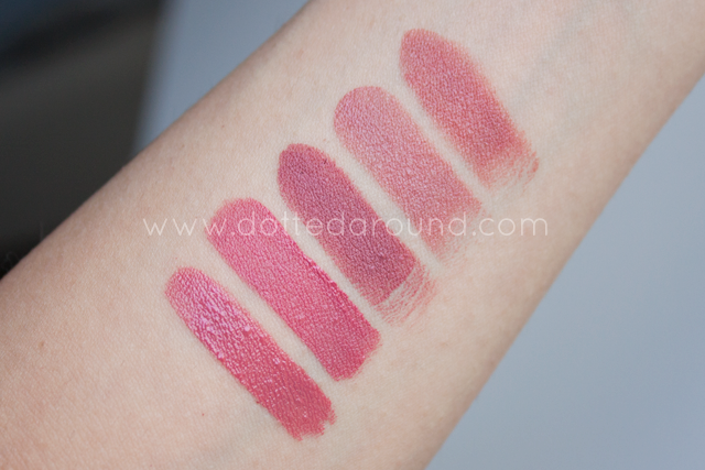 Mac Mehr lipstick comparison swatches Nars Urban Decay Guerlain