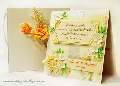 kartki okolicznościowe, kartka na wesele, kartka ślubna, barbara wójcik