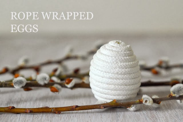 {Craft} 8 creative ideas for Easter | rope wrapped easter egg