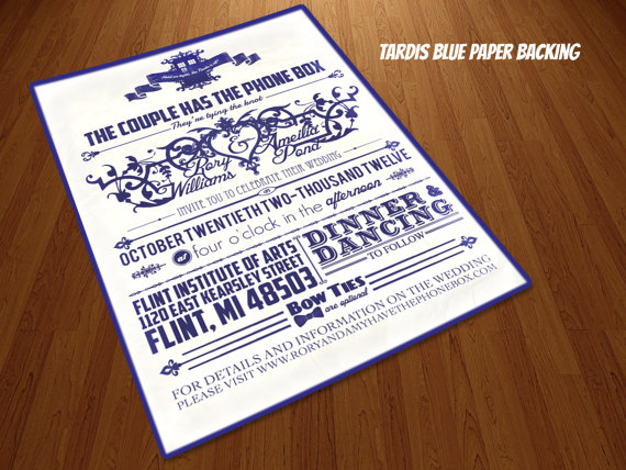 Bang Boom Pow: Doctor Who Themed Invitations