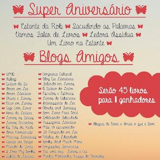 PROMOÇÃO: Super Aniversário - Blogs amigos!