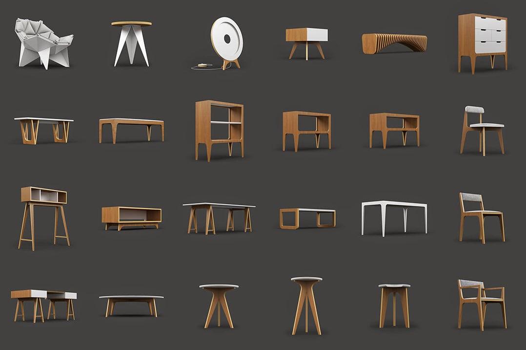 25 modelos de muebles 3d gratis por odesd2 cg vertex