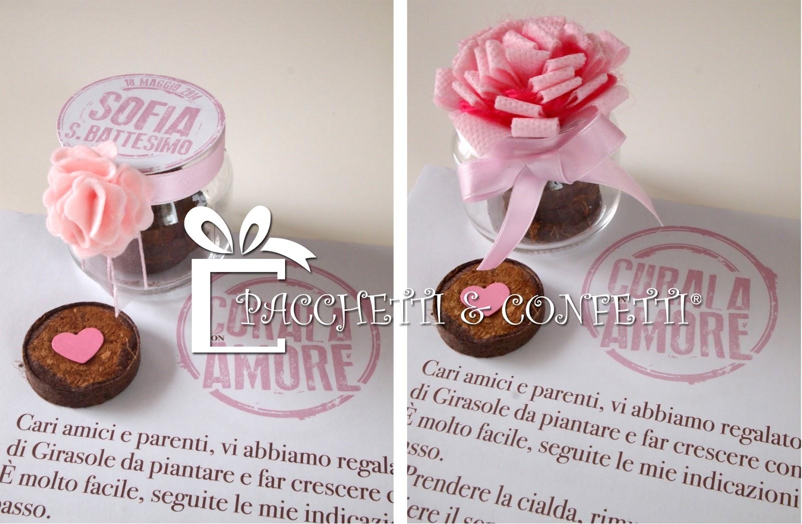 Fabuleux Pacchetti e Confetti: Bomboniere con semi: vasetti in vetro per  DV92