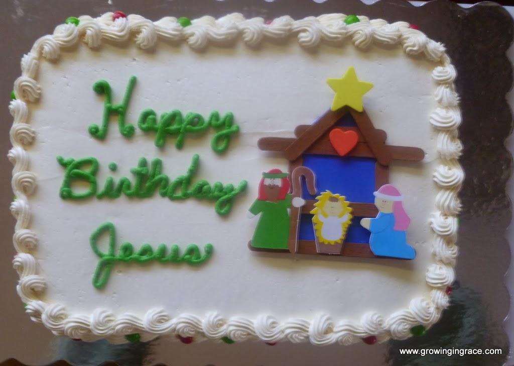 Growing In Grace Jesus Birthday Cake