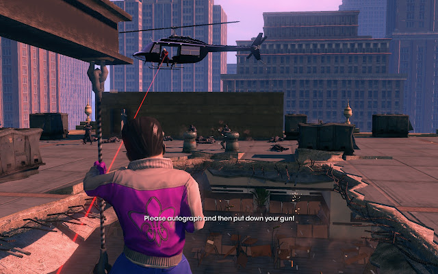 Saints Row Third Please autograph and then put down your gun
