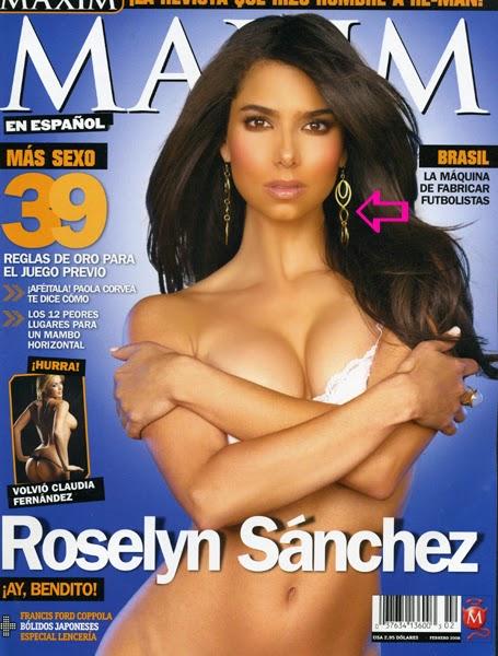 Roselyn Sanchez wearing Jenny Dayco earrings