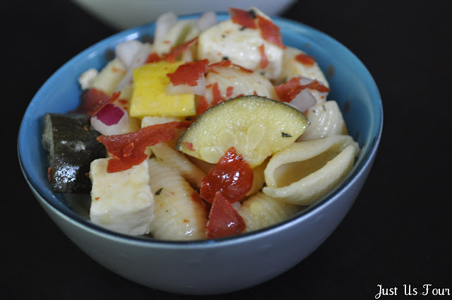 Pasta Salad with Prosciutto and Summer Squash #recipes #pasta #salad