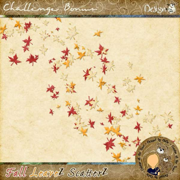 ScatterZ Challenge Bonus - Fall LeaveZ ScatterZ by DeDe Smith (DesignZ by DeDe)