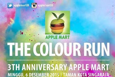 The Colour Run 2015 Apple Mart Singaraja Bali