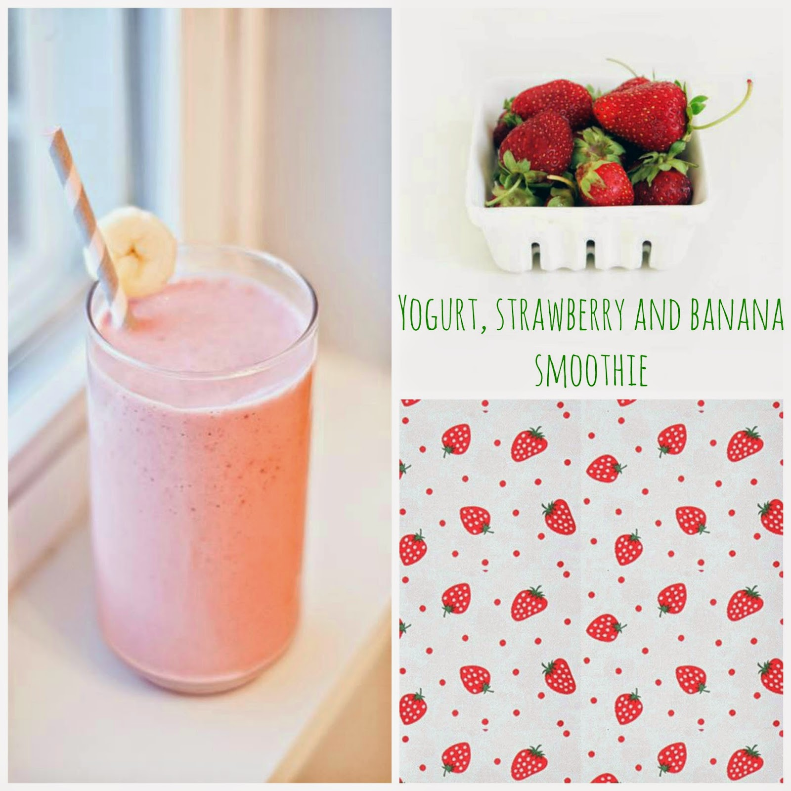 frullato con fragole, banana e yogurt / yogurt, strawberry and banana smoothie