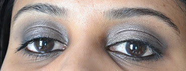 brown black khaki eotd beginner makeup YSL Faux cils noir radical