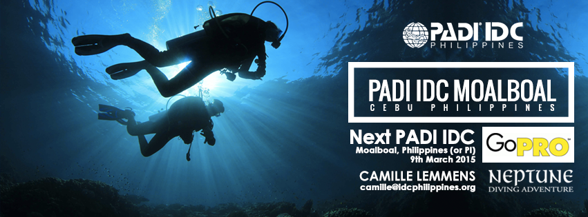 Next PADI IDC is coming up 7th March 2015 in Moalboal, Philippines