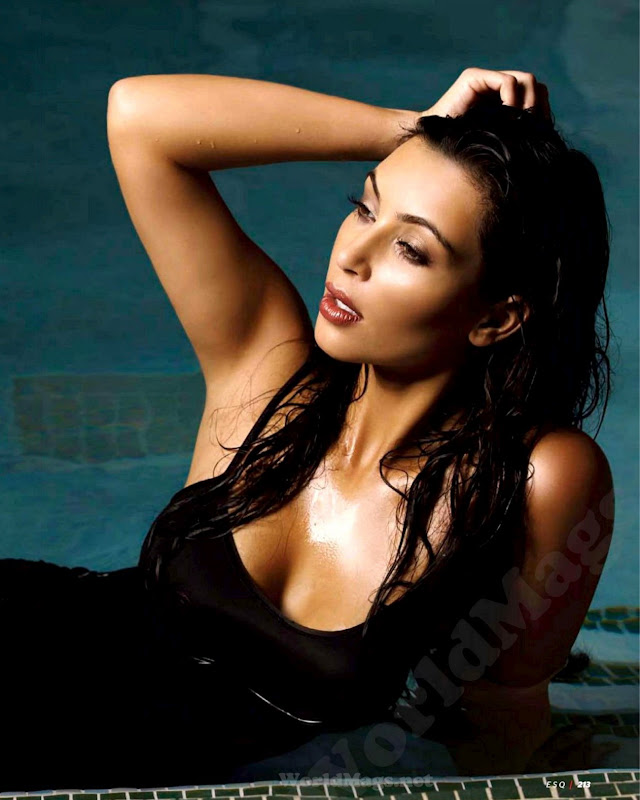 Kim Kardashian in the pool for Esquire Mexico June 2012 Issue