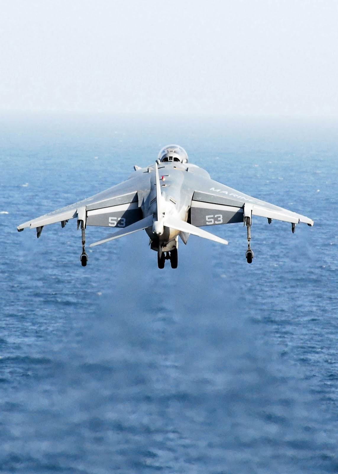 Harrier Jump Jet Hovering