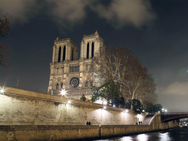 A igreja de Notre Dame, em Paris (Foto: AFP)