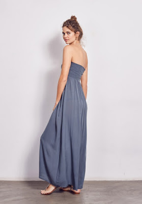 Hush Shirred Maxi Dress