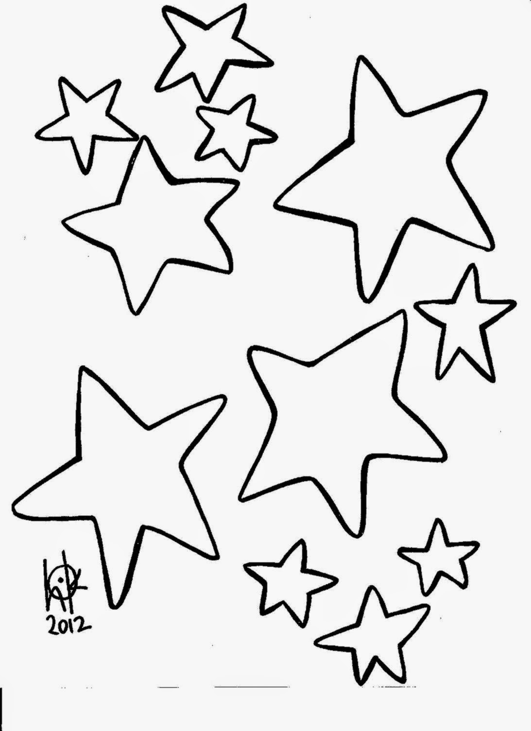 Coloring Pictures Of Stars Free Coloring Pictures