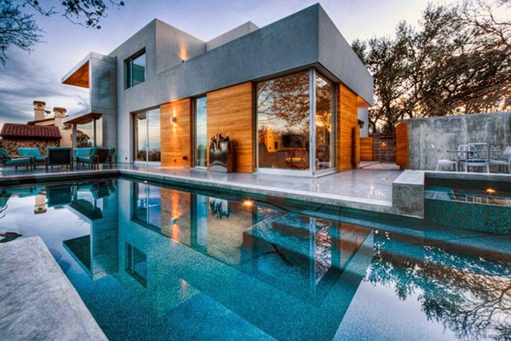 Desain Rumah Mewah Modern Dengan Kolam Renang & Desain Rumah Mewah Dengan Kolam Renang | Desain Rumah