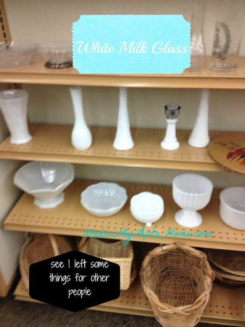 white milk glass at store
