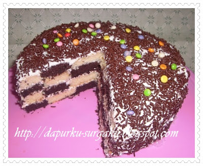 Cake Coklat, Cake Tanpa Pengembang Tambahan, Cake Panggang