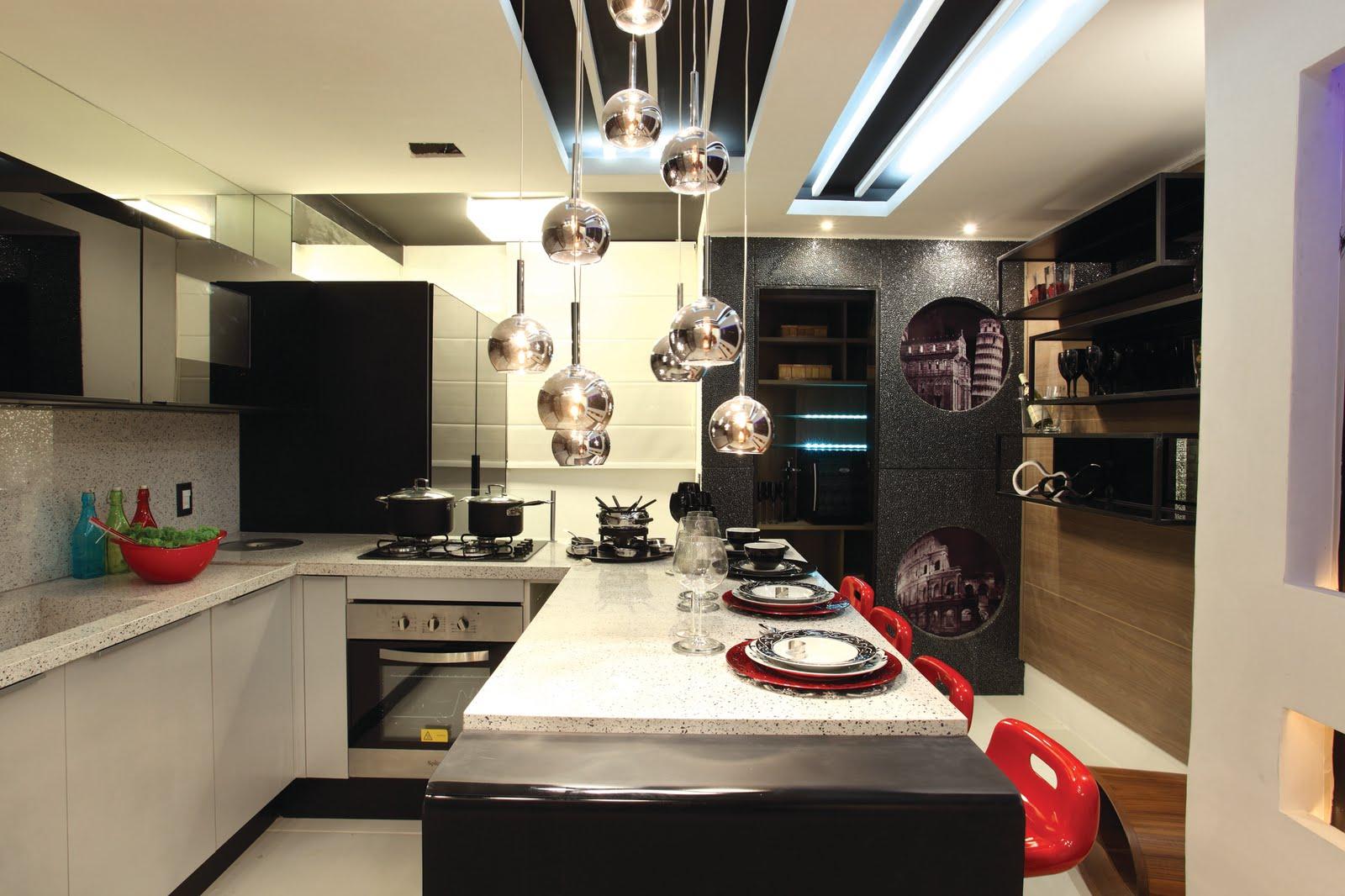#A82323  pelos visitantes o melhor projeto da mostra ~ Mostra Casa Design 1600x1066 px Cozinha Design Casa_60 Imagens