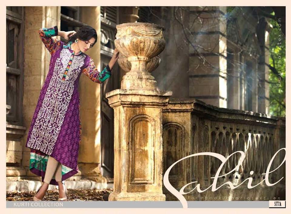 Sahil Winter Kurti Collection 2015 by Shariq Textiles