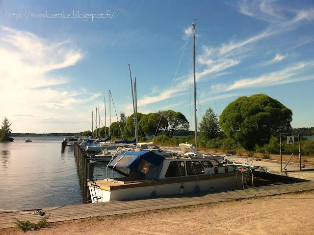 Messilän leirintäalue, laivalaituri, camping, Vesijärvi, ranta