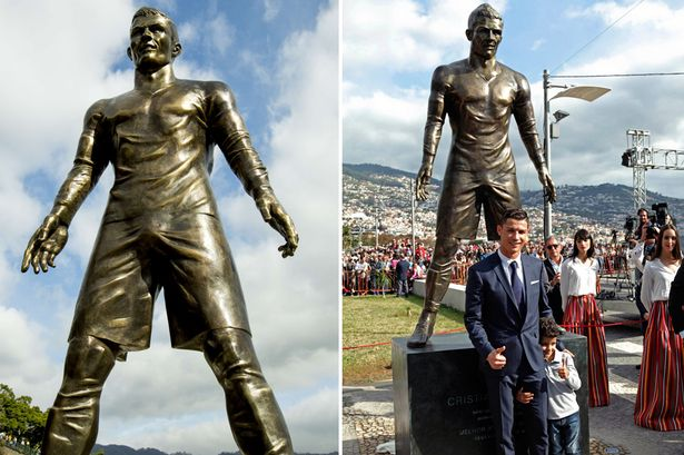Tribute: Ronaldo attended the unveiling of his statue in December 2014