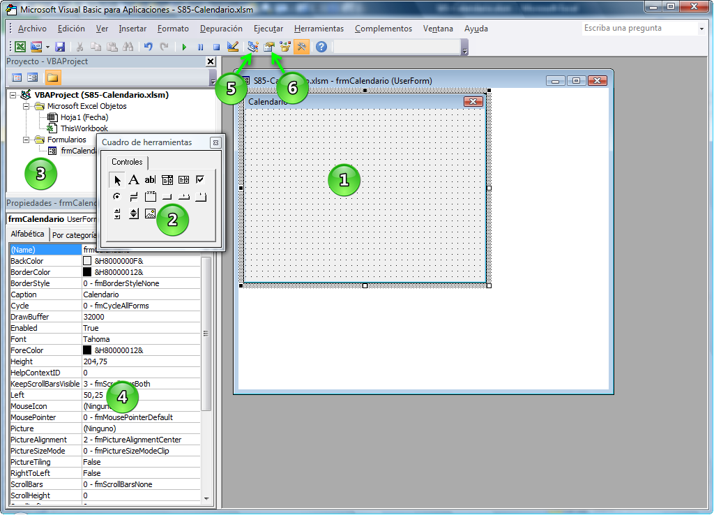 Entramos en VBA (Visual Basic para Aplicaciones) pulsando Alt + F11 e ...