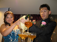 The champagne pouring ceremony
