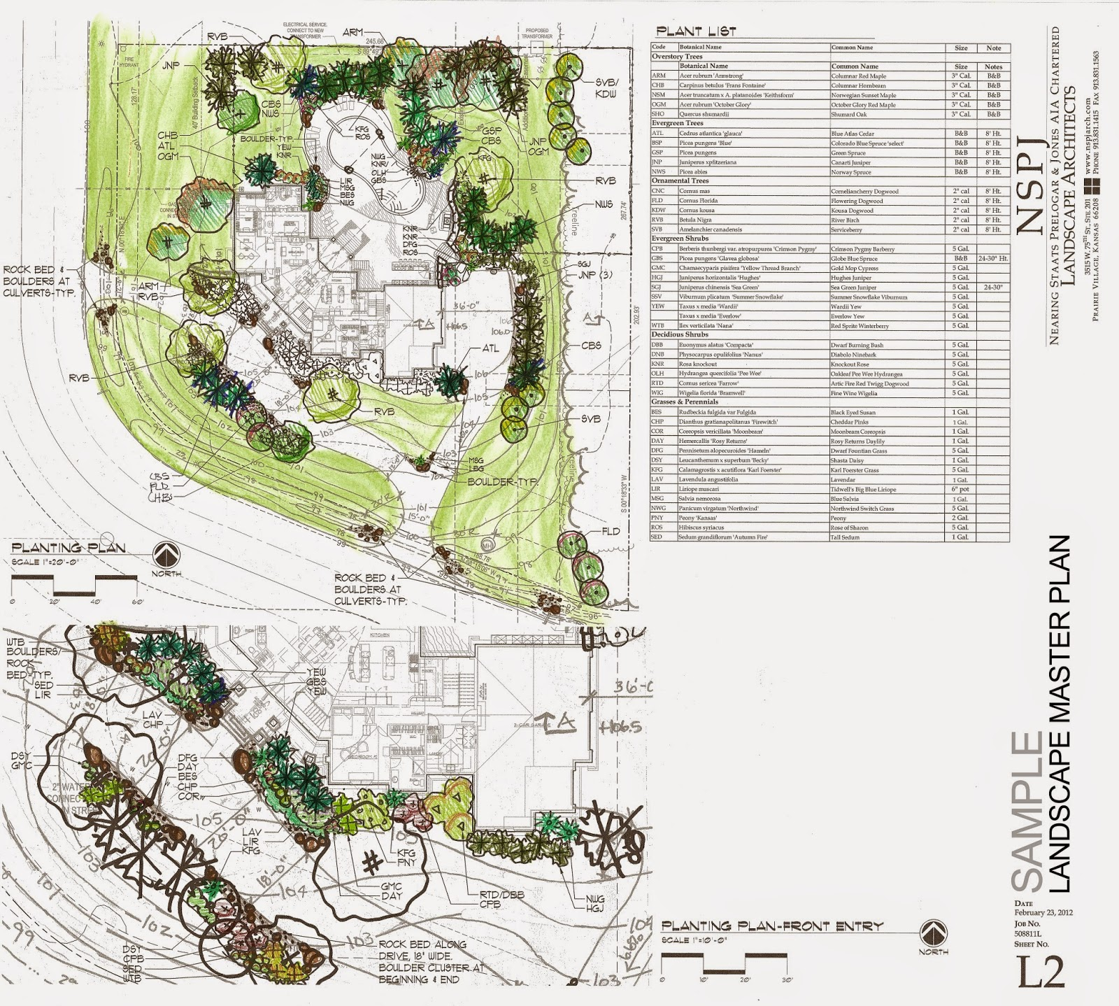 Example of a landscape master plan katie 39 s landscape for Landscape plan examples